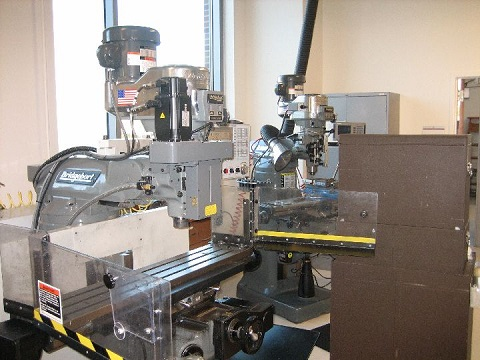 CNC Mill at Instrument Shop