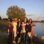 The Lai Lab group picture taken during the fishing trip at Pawnee Lake.