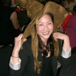 Dr. Lai loves the Christmas gift from her students - a  Hogwarts Sorting Hat!