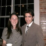 Jennifer and Ehsan at the 2011 PLU Christmas Party.