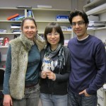 Jennifer and Ehsan with Weiwei on her last day of work.