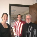 A picture of Jennifer and Cody with Prof. Alan Heeger who visited the lab in Oct 2010.