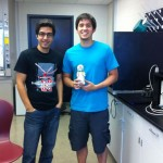 Stephen has been awarded his Lai Lab signature prairie dog (here with his mentor Ehsan).