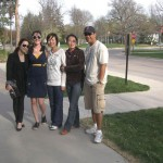 Dr. Lai, Weiwei, Shuang, Jennifer and Socrates went to the East Campus Dairy Store on a nice Spring day!