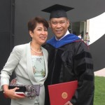 Socrates′s aunt (Aunt Olive) attended his hooding ceremony on May 3, 2013.