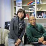 Socrates and Weiwei on her last day of work in the lab