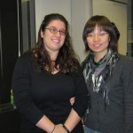 Anita and Weiwei on her last day of work in the lab.