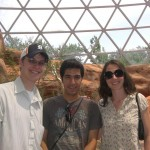 Thomas, Ehsan and Jennifer hanging out in the Desert Dome at the zoo.