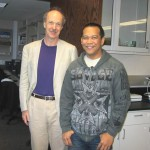 Here is Socrates with Prof. Crooks who visited our lab in April 2011.