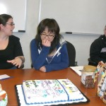 Anita describing the process of creating this Lai Lab signature cake for Socrates and Jennifer.