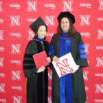 Dr. Lai and Anita at the 2015 Spring graduation ceremony.
