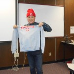 Andy with his Nebraska sweatshirt and beanie.  Lincoln is Andy's second home now!