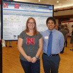 Our 2016 REU student Carlo and his mentor Arin at the Poster Session.