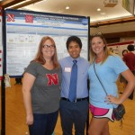 Arin and Channing with Carlo at the 2016 UNL Summer Research Fair Poster Session.