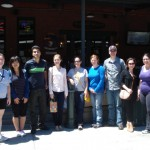 The Lai Lab attending the farewell lunch for Gabriela at Buzzard Billy′s on July 27, 2013.