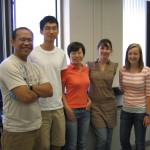 Socrates, Weiwei, and Jennifer with our 2009 NSF REU students Rebecca Grout and Blake Mei.