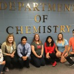 Lai Lab group picture taken outside the Chemistry Department main office.