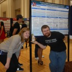Kenneth, Savannah and her custom-designed prairie dog at the Poster Session.