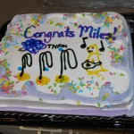 The Lai Lab signature graduation cake for Miles.