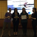 "Jocelyn and Dr. Lai with Elizabeth Laskowski and Brianna Shoulak, two of the ""Best Poster"" winners."