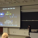 "Dr. Lai giving her signature ""Harry Potter"" talk at WoPhyS 2016."