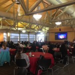 WoPhyS attendees at the UNL Champions Club.
