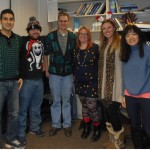 The Lai Lab in their Christmas outfits.