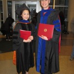 Dr. Lai and Thomas at the 2016 Fall graduation ceremony.