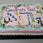 The Lai Lab signature graduation cake for Yao.