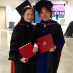 Dr. Lai and Yao at the 2017 Spring graduation ceremony.