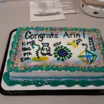 The Lai Lab signature graduation cake for Arin.