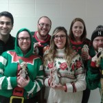 The Lai lab in their Christmas sweaters.