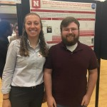 Our 2018 REU student Maggie and her mentor Kenneth at the Poster Session.