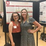 Our 2018 high school student Sarah and her mentor Channing at the Poster Session.