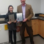 Dr. Lai and Dr. Dussault received plaques from NUtech for their patents.