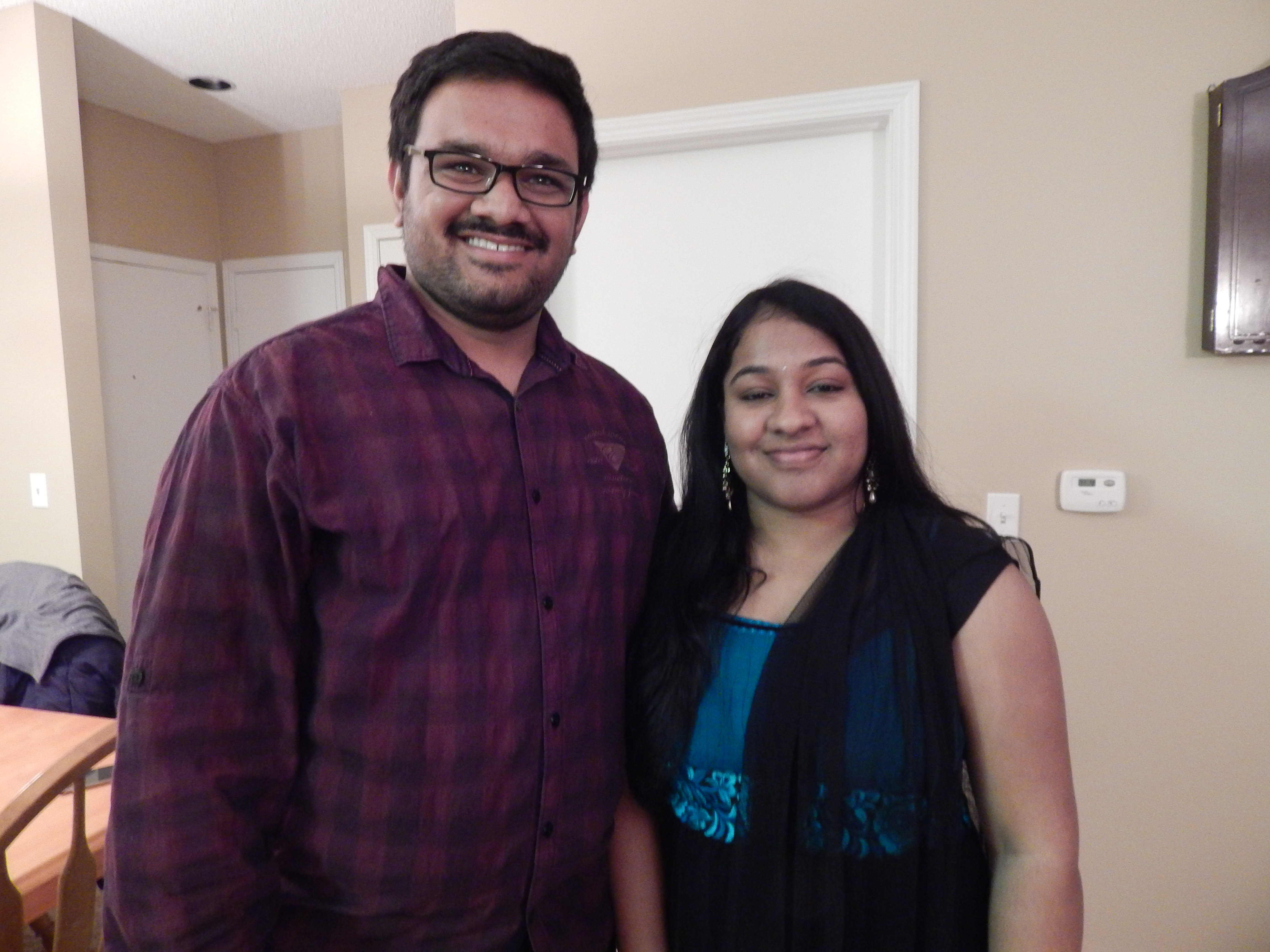 Abhi and his wife.